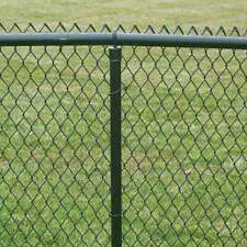 Chain Link PVC Coated Wire Fencing 4FT 25 Meters Industrial / Garden Fencing