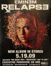 "Original EMINEM ""Relapse"" 18"" x 24"" Promo Retail Wall Poster RARE"