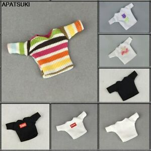 """Fashion Shirts Short Crop Tops For 11.5"""" Doll Clothes Outfits For Blythe 1/6 Toy"""