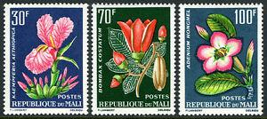 Mali 55-57, Mi 78-80, MNH Tropical Plantes, 1963