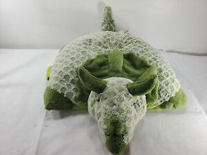 "Jumbo Full Size 30"" My Pillow Pet Dinosaur Triceratops Plush Green"