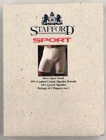 Vintage Men's STAFFORD SPORT Trunk Boxer Brief Underwear White Large