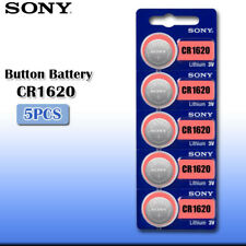 5 x SONY CR1620 batteries Lithium Power 3V Coin Cell BR1620 DL1620 Pack 1