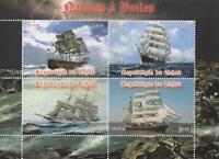 "HISTORICAL SHIPS NAUTICAL 6"" x 4.5"" REPUBLIQUE DU TCHAD 2014 MNH STAMP SHEETLET"