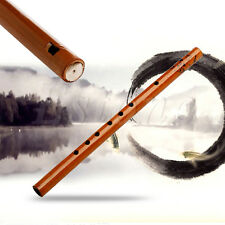 6 Hole Bamboo Flute Clarinet Student Musical Instrument Wood Color Traditional