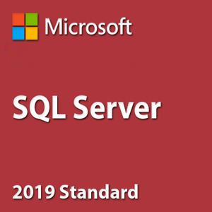 SQL Server 2019 Standard License  24 Cores Unlimited CALs /30SEC DELVERY