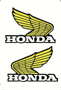 Honda Wings (Yellow) Decals/Stickers