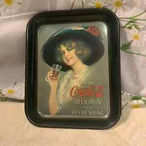 Vintage Coca Cola Gibson Girl serving rolling tray