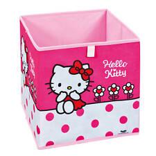 Boîte de rangement Hello Kitty Fleurs rose 31,5 x 31,5 x 31,5cm