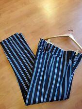 BOOMBAH Softball Pants Baseball Men's W38 Long Black Blue White Striped