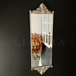 Vintage Antique Style Silver Ornate Wall Mirror Art Deco Wall Mount Mirror 67x21