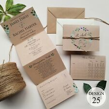 Personalised Wedding Invitations With Envelopes Or Evening Invites HUGE SALE