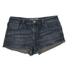 Maurices Denim Shorts Juniors Women's Size 7 8 Jeans Cut Offs Raw Hem Distressed