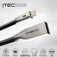 iTec 1m Lightning Sync & Charger USB Data Cable For Apple iPhone 6 5 7 iPad Air