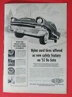"""1957 De Soto Dupont Original Print Ad  8.5 x 11"""""""