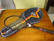 "Dunlop Black Max Tennis Racquet 4 1/2"" With Case ""VERY GOOD"""