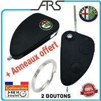 Coque Télécommande Plip Clé ALFA ROMEO 147 156 166 GT 2 boutons Rabatable anneau