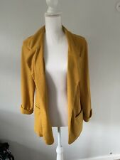 Ladies Jacket size 12 Yellow New Look <FF2792