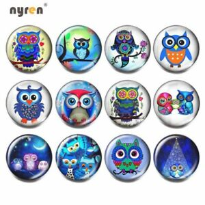 12pcs Glass Snap Charms Mix Combination 18mm Ginger Snap Button For Snap Jewelry