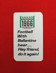 1966 Philadelphia Eagles NFL Football Pocket Television Schedule Card