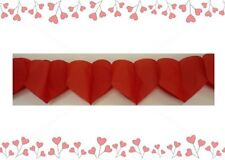 Valentines Day / Love / Wedding Party Supplies Red Hearts Paper Garland 4 metres