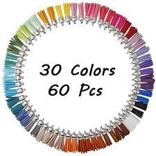 60Pcs 30 Colors Tassel Pendants with Caps for Key Chain DIY Accessories CZ 2018