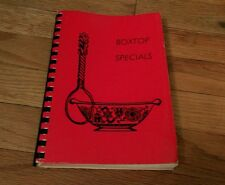 1982 Boxtop Specials A book Of Favorite Recipes Topsfield Boxford Newcomers Club