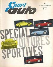 SPORT AUTO 3 1962 ABARTH SIMCA 1300 GT ALFA GIULIETTA SPRINT ZAGATO ROUTES NOR