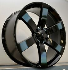 "4) 20"" TrailBlazer SS Envoy Replica Wheels Rims Set Gloss Black 2002 - Current"