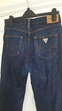 Supongo que Mens Jeans Azul Pierna Recta Tamaño 30 X 32 Excelente Cierre De Botones