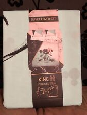 Primark Disney Mickey And Minnie Mouse King Size Duvet Cover Set  Marble NEW!!