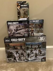 Four Mega Construx Bloks Call Of Duty WWII Battle Weapons Pack Turret Lot NIB