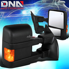 FOR 1999-2007 FORD F250 SUPER DUTY PAIR POWER+HEATED+TURN SIGNAL TOWING MIRROR