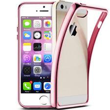 iPhone 5s / SE Luxury Schutzhülle Silikon Hüllen Case Chrom Cover Platin Rose