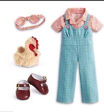 American Girl Kit's Chicken Keeping Set NIB Overalls Shoes Plush NO DOLL