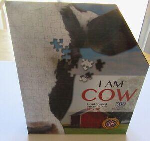 "Madd Capp I AM COW JIGSAW PUZZLE- -head shaped 300 piece 18"" X 20"""