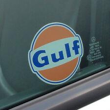 """Gulf logo window sticker 100 mm 4"""" wide - Officially licensed Gulf merchandise"""