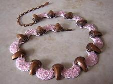 Copper Enamel Vintage Costume Necklaces