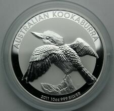 Silver 2011 Australian Kookaburra 10 oz $10 .999 Uncirculated Bullion Coim