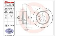 2x BREMBO Discos de Freno Traseros Pleno 288mm 08.A150.11