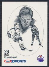 1986-87 Kraft Sports Hockey Card Mike Krushelnyski
