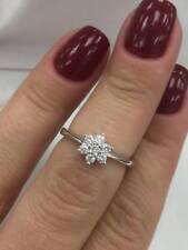 18CT WHITE GOLD 0.25CT DIAMOND FANCY DAISY FLOWER RING LGJ6