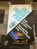 Vintage Apple Macintosh Poster 1990s Filemaker Pro - Double Sided RARE 48x28.5