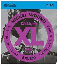 D'Addario EXL120 Super Light Electric Guitar Strings 9-42 UK SELLER