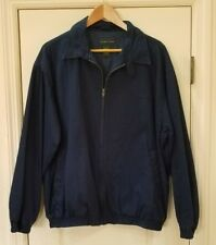 IZOD CLUB Men's Large Stitched Logo Navy Blue Light Golf Jacket Windbreaker VGC!