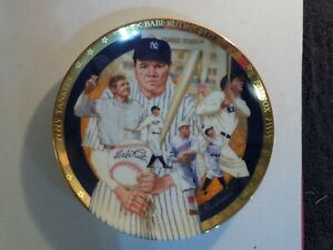 Hamilton Collection The Immortal Babe Ruth Best Of Baseball Plate w/COA