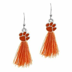 SANDOL Clemson Tigers Tassel Earrings
