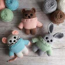Teddy Boo and Friends toy knitting pattern