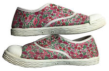 JACADI PARIS Girls' Diamant Low-Top Sneakers Liberty Print Slip-On Sz EU 29/US12