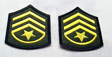 Aufnäher U.S. Army Staffsergeant 2 Stück 100 Marines Navy USA Luftfahrt Patch
